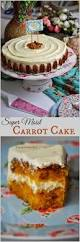perfectly moist and tender carrot cake with a creamy not