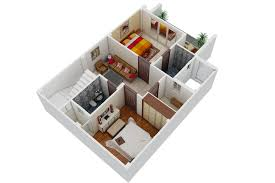 ark 3d render work rendered floor plan
