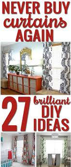how to your own curtains 27 brilliant diy ideas and tutorials
