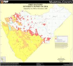 Wildfire Map Valley Fire by Cal Fire Mariposa County Fhsz Map