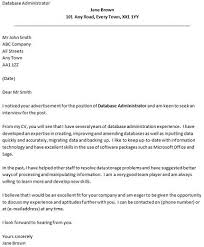 new cover letter for database administrator 71 for your cover