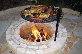 Outdoor Fireplace With Cooking Grill by Image Of Outdoor Fireplace Grates Ideas Outdoor Fire Pit Cooking