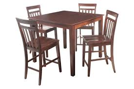 solid wood counter height table sets ttp furnish 5 piece solid wood counter height dining set perryvale