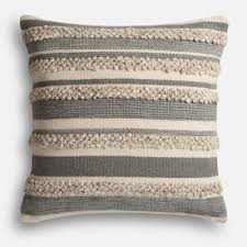 Loloi Pillows Dhurrie Style Pillow Magnolia Home Zander Gray U0026 Ivory Oversized Pillow Joanna Gaines