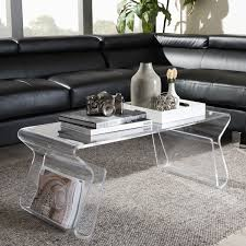 overstock ottoman coffee table the most adair acrylic coffee table free shipping today overstock
