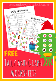 free tally and graph worksheets christmas edition