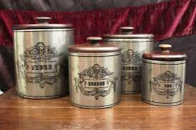 vintage metal kitchen canister sets vintage kitchen canister sets explanation all home decorations