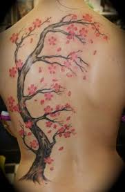 japanese cherry blossom tiger design