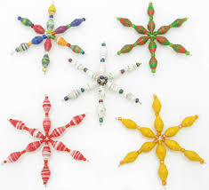 ornaments of snowflake ornaments beaded