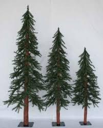 downswept trees homey set of 3 alpine trees