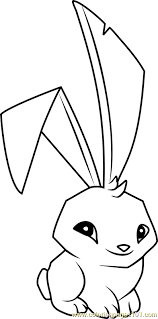 bunny animal jam coloring free animal jam coloring pages
