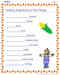 adding adjectives to fall things u2013 free english worksheet u2013 jumpstart