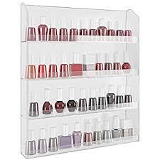 amazon com 96 bottle nail polish wall rack display beauty