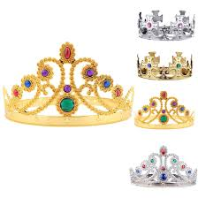 children kids king queen princess tiara crystal crown hairband