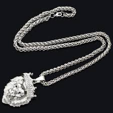 big chain necklace silver images Big lion head necklacevintage gold silver color jpg