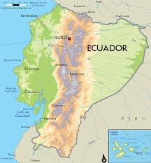 Central America Physical Map by Ecuador Physical Map