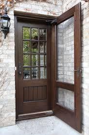 Exterior Door With Screen Window single french door exterior