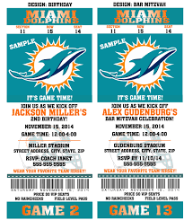 Invitation Cards Birthday Party Printable Birthday Party Invitation Card Miami Dolphins