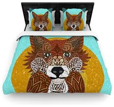 Duvet Covers Brown And Blue Art Love Passion