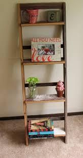 Wooden Ladder Bookcase by Barn Wood Ladder Shelf
