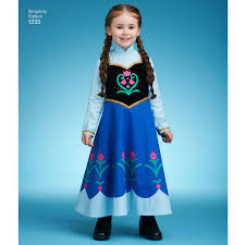 Frozen Costume Pattern For Disney Frozen Costume For Children Simplicity