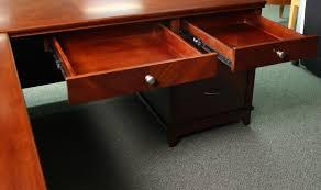 Executive Desk Arlington L Shape Executive Desk Transitional Walnut Left Return