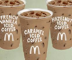 Iced Coffee Mcd mcdonald s on caramel vanilla hazelnut what s