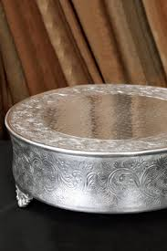 silver wedding cake stand embossed classic 18 wedding cake plateau