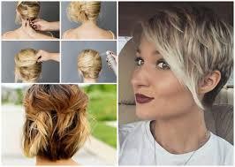 Hochsteckfrisuren Mittellange Haar Einfach by Schöne Frisuren Für Kurze Haare Zum Selber Machen Bob Frisuren