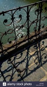 decorative iron railings at the chateau de carrouges in southern
