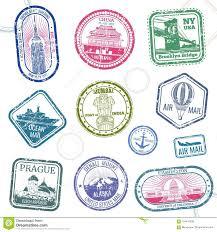 Alaska Travel Symbols images Vintage passport travel vector stamps with international symbols jpg
