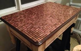 Bathroom Floor Pennies How To Make A Penny Top Coffee Table Diy Removeandreplace Com