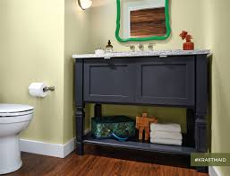 kraftmaid u0027s console vanity for the bathroom looks like furniture
