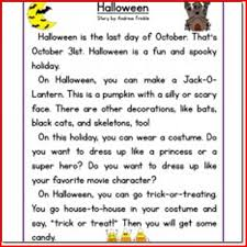 halloween reading activity for 2nd grade u2013 festival collections