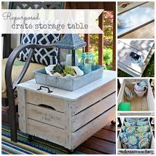 repurpose a wooden crate into a rolling storage table simplicity