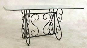 Iron Table Base Glass Top Wrought Iron Dining Table Foter