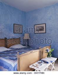 Spanish Bedroom Furniture by Blue Spanish Country Bedroom With White Curtains On French Windows
