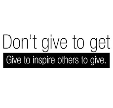give to inspire others to give giving back picture quote givingback