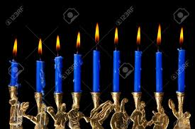 menorah candle hanukkah candles with all candle lite on the traditional hanukkah