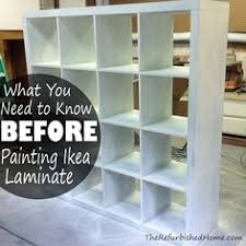 how to paint ikea furniture including expedit kallax lack and