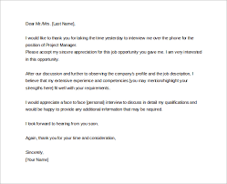 collection of solutions thank you letter for job interview with