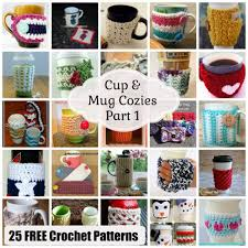 how to make designs on coffee cup mug cozies part 1 25 free crochet patterns rhelena s