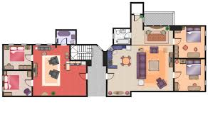 Tv Show Apartment Floor Plans Flat Design Floor Plan Apartment Plan Mini Hotel Floor Plan