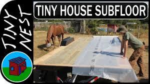 tiny house subfloor vapor barrier ep 8