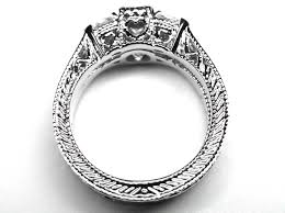 engagement ring vintage engraved engagement ring marquise