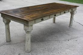 how to build a table with drawers how to make a farm table home plans