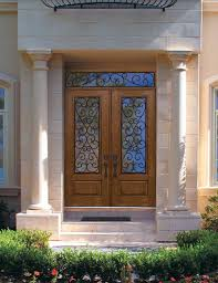 Fiberglass Exterior Doors With Glass Pre Hung Door 96 Fiberglass Palermo 1 Panel 34 Lite Gbg