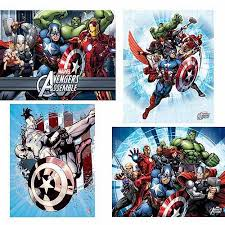 marvel avengers wall art set of 4 walmart com