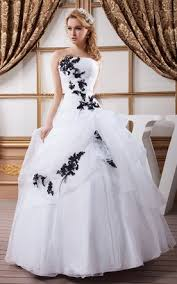 black and white wedding dress white and black wedding dress gowns two tone bridal dresses