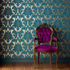 majestic teal wallpaper damask wallpaper graham brown